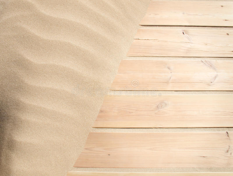 Wood And Sand Royalty Free Stock Images