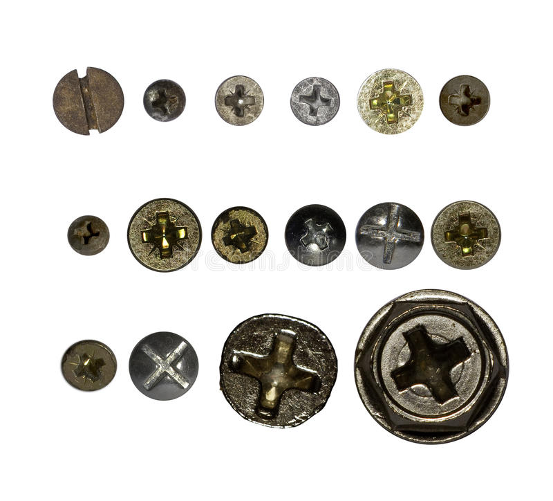 Download Wood screws stock image. Image of shiny, cross, work - 17703367