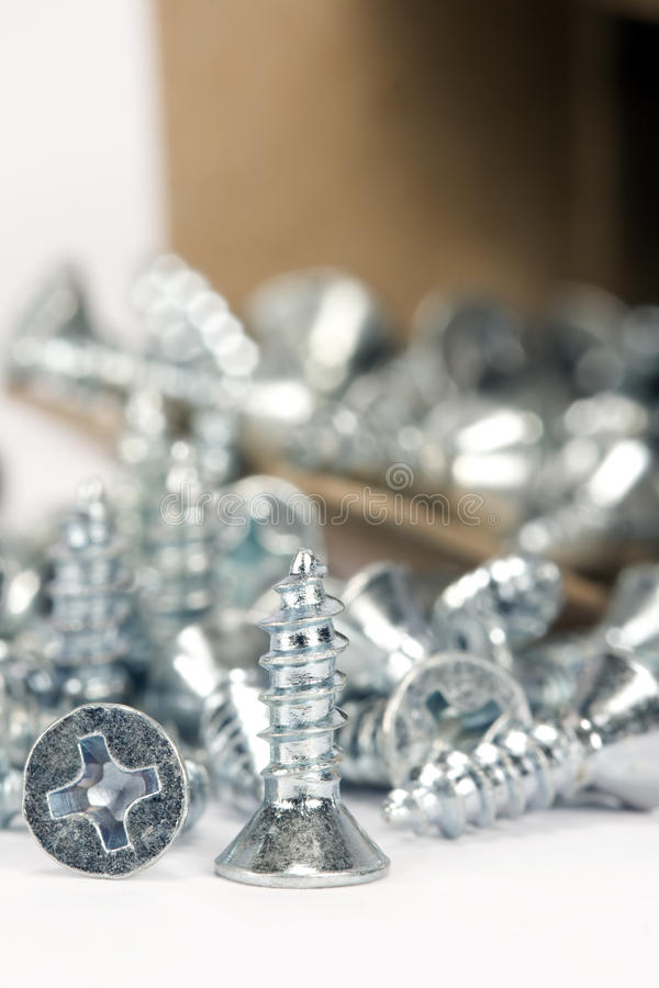 Wood Screws stock images