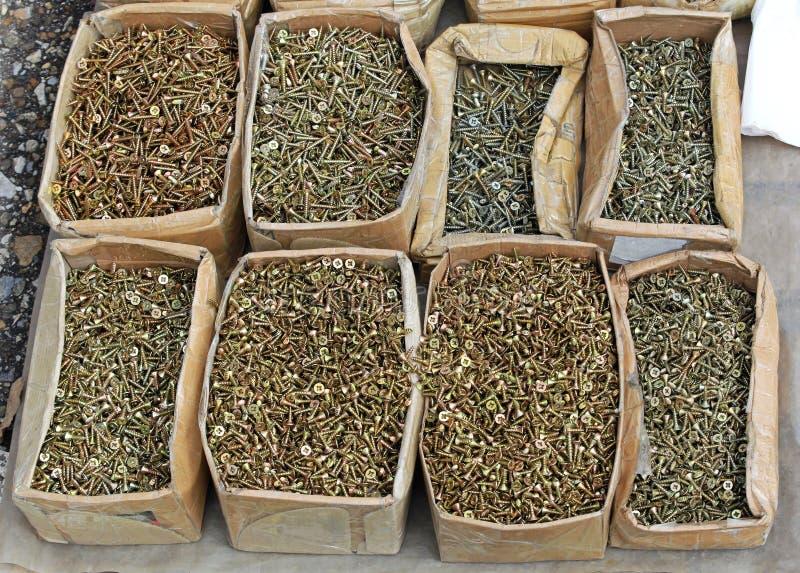 Download Wood screws stock photo. Image of steel, thread, spiral - 32545574