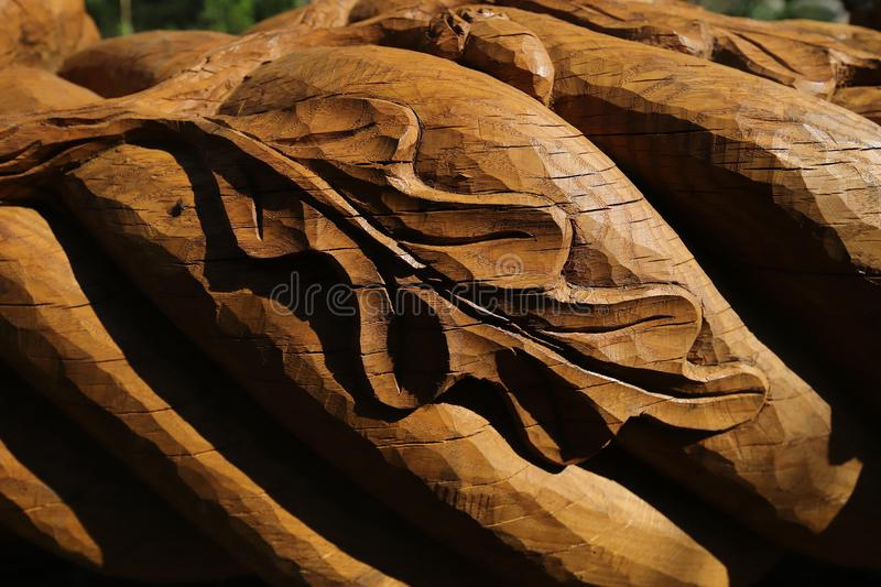 Wood sculpture royalty free stock photo