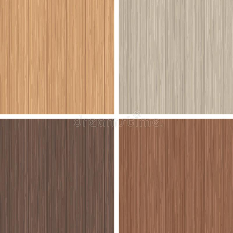 Wood seamless pattern set. Light and dark brown wooden texture. stock illustration