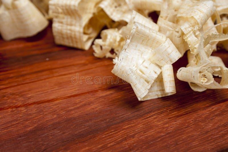 Wood shaving stock photography