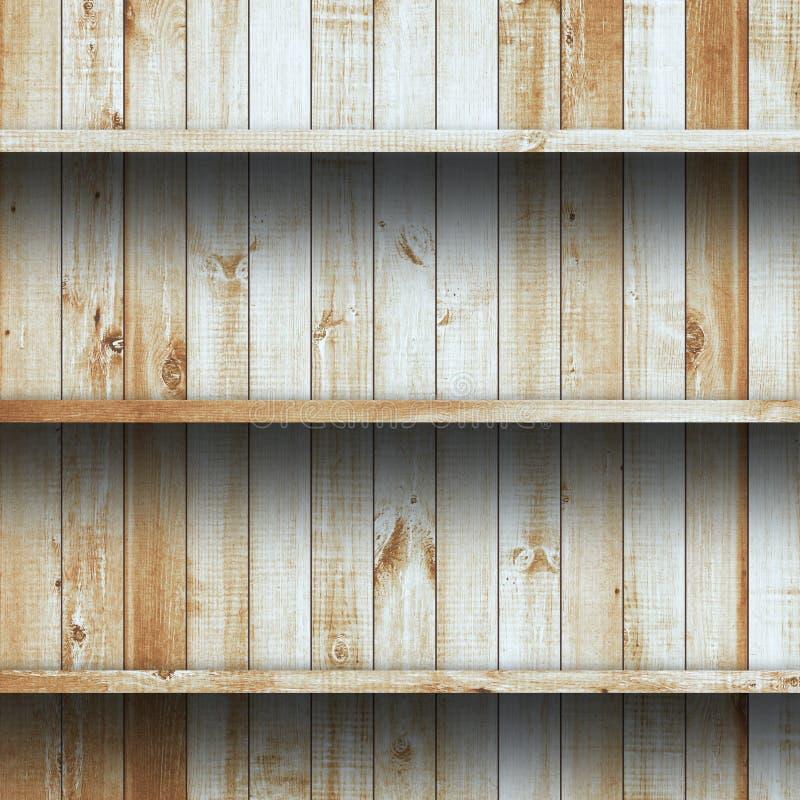 Wood shelf, grunge industrial interior stock photos