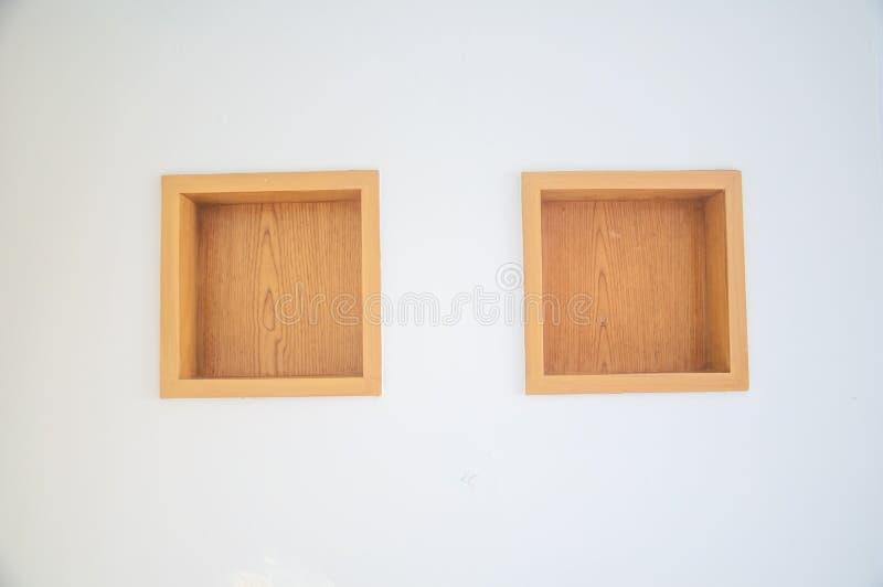 Wood shelf. Grunge industrial interior stock photo