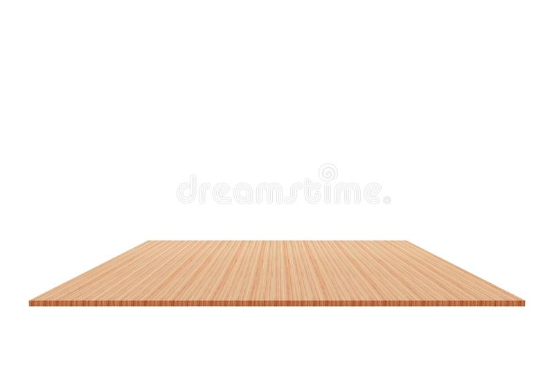 Wood Shelf Isolated on white background and Clipping path.  royalty free stock photo
