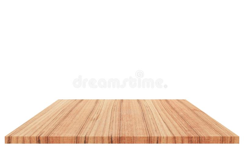 Wood Shelf Isolated on white background and Clipping path.  royalty free stock images