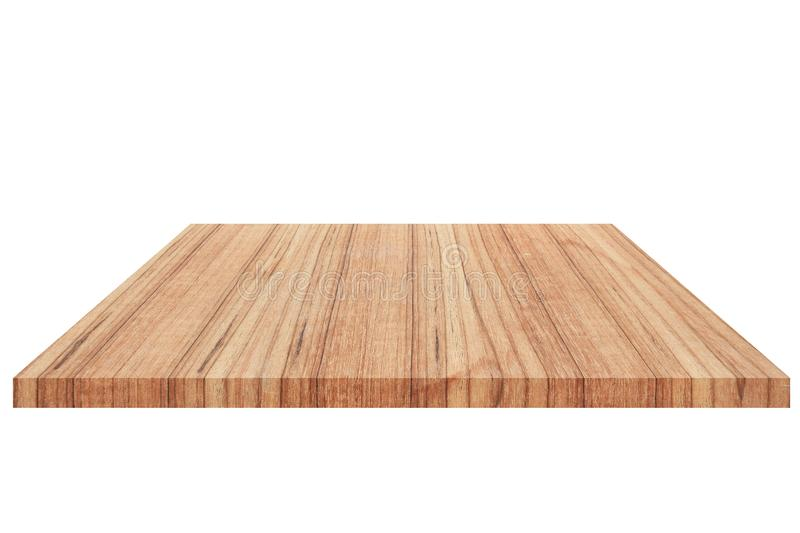 Wood Shelf Isolated on white background and Clipping path.  stock images