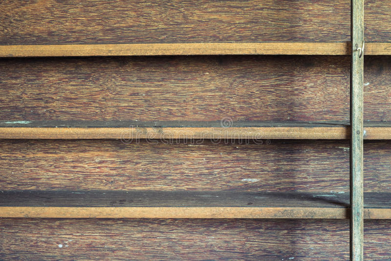 Wood shelf. Old wood shelf in abandoned house royalty free stock image