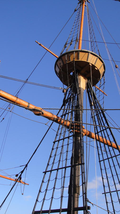 Free Wood Ship Look Out Post Royalty Free Stock Photo - 36860795
