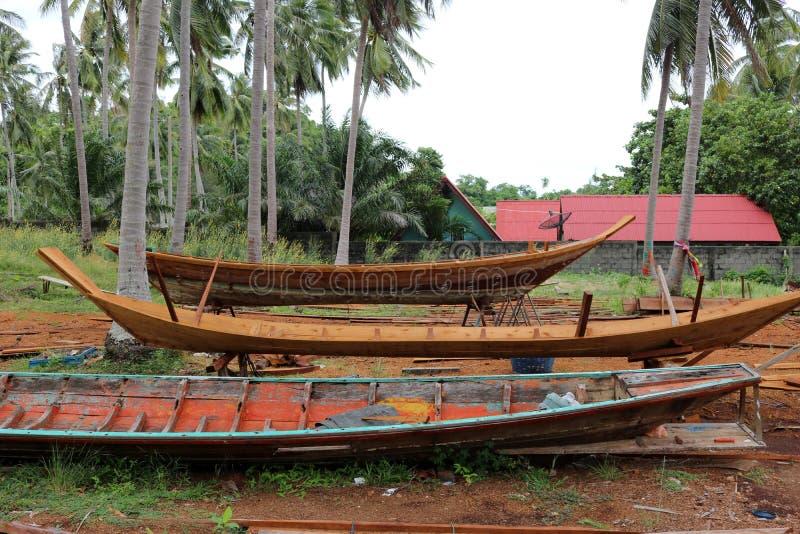 Wood shipbuilding near the sea. royalty free stock photography