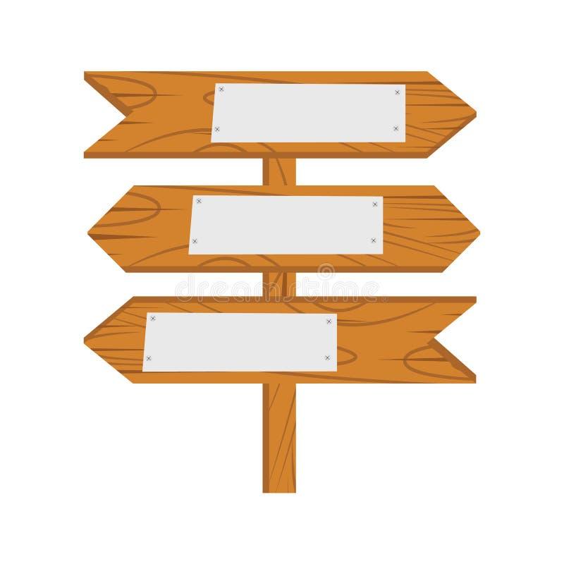 Wood Sign cartoon vector illustration