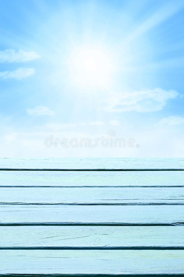 Free Wood Sky Blue Background Stock Photography - 42160062