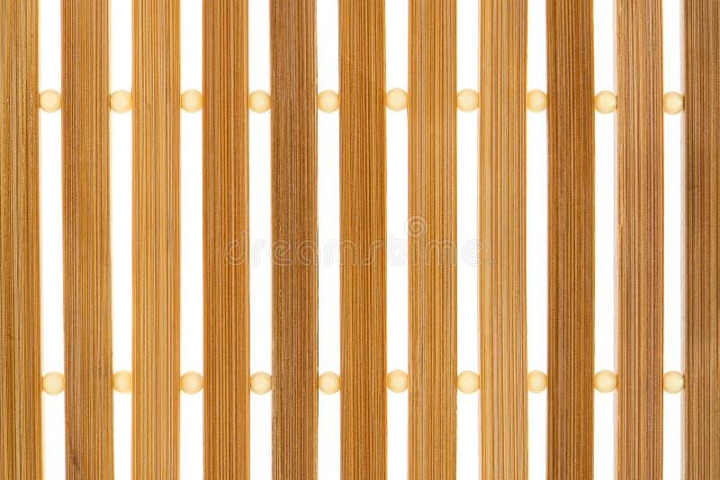 Wood Slat Background. Wood slat mat background over white royalty free stock photos