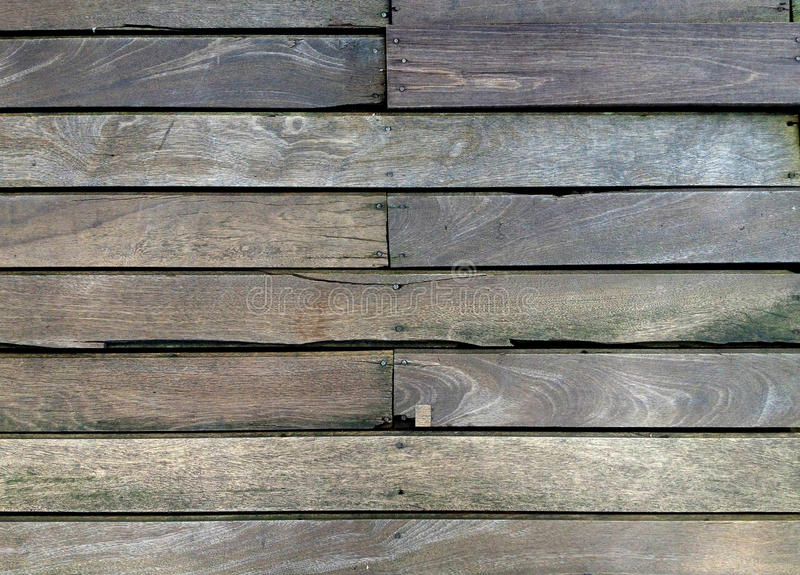 Wood slat floor. Brown wood slat floor fasten with nail royalty free stock image