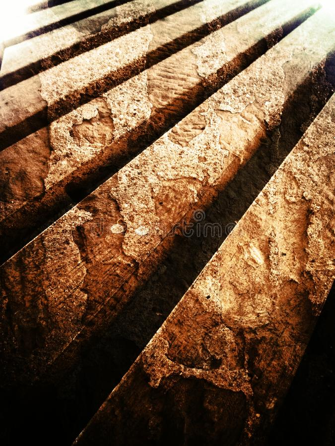 Wood. Slat wood ranang royalty free stock photos
