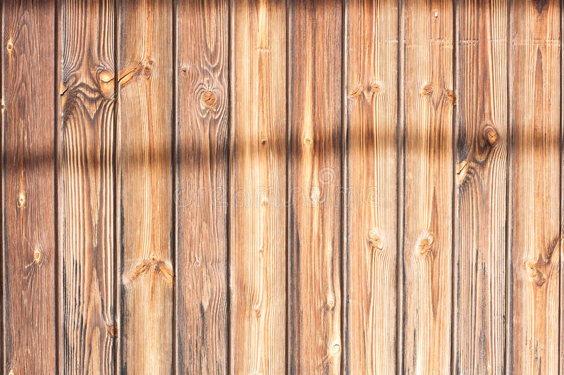 Wood slat with shadows. Wooden Background royalty free stock images