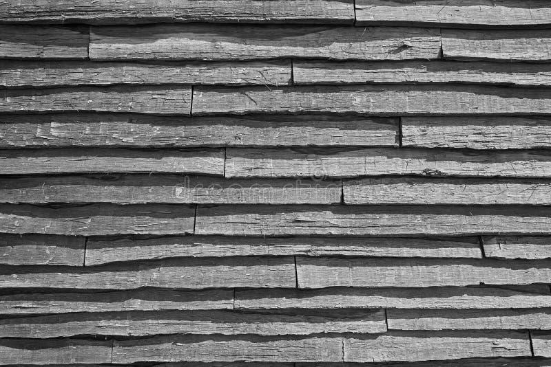 Wood Slat Siding. Rough Textured Wood Slat Siding stock photo