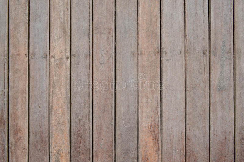 Wood slat wall. Brown wood slat wall fasten with nail for background and texture royalty free stock photos