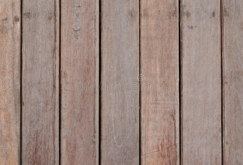 Wood slat wall. Brown wood slat wall fasten with nail for background and texture royalty free stock image