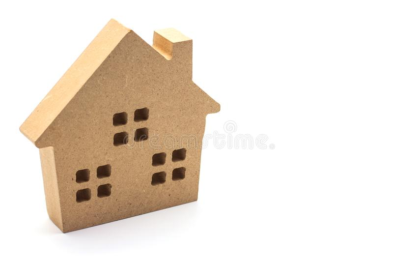 Wood small house on white background. Wood small house on a white background royalty free stock photography