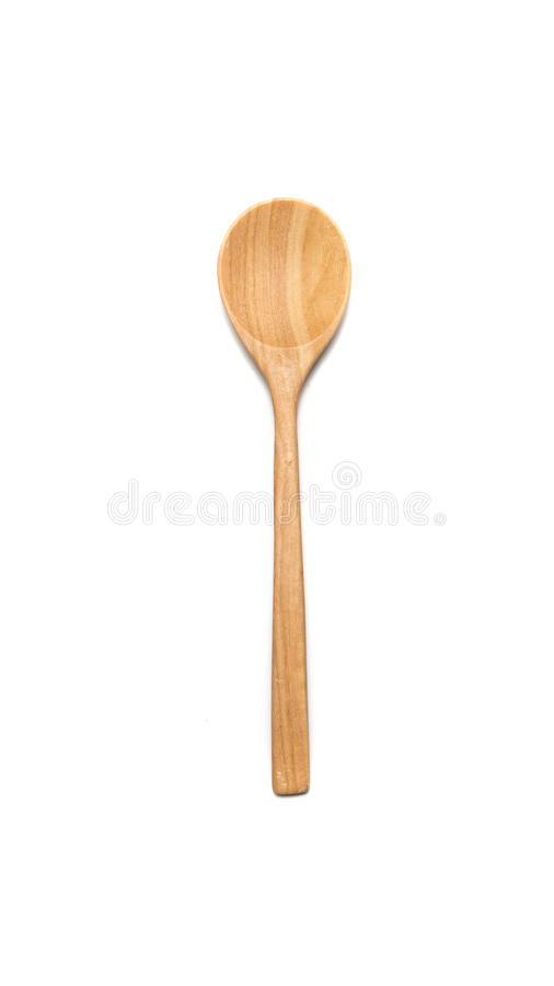 Wood spoon stock photography