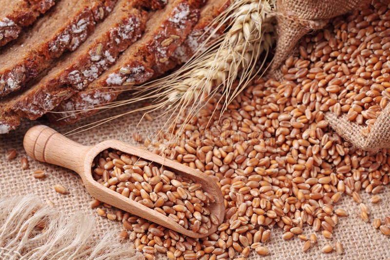 Download Wood Spoon With Whole Wheat Stock Photo - Image: 20324622