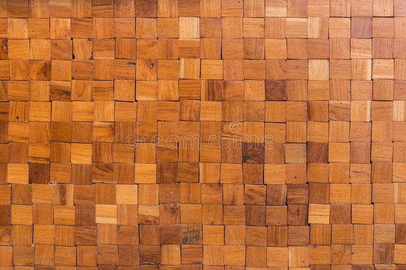 Wood square texture background. Orange wood square texture background royalty free stock image