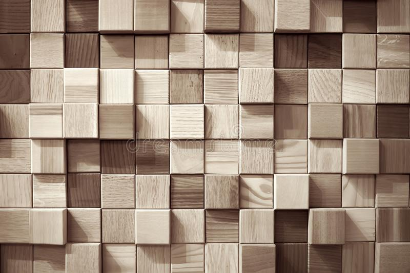 Wood squares wall stock photography