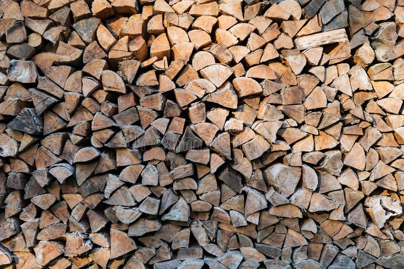 Wood stack log pile timber fire piece royalty free stock photo