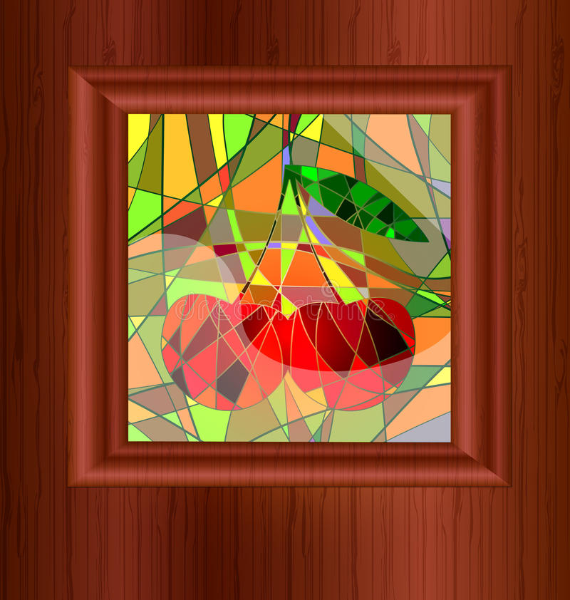 wood and stained glass