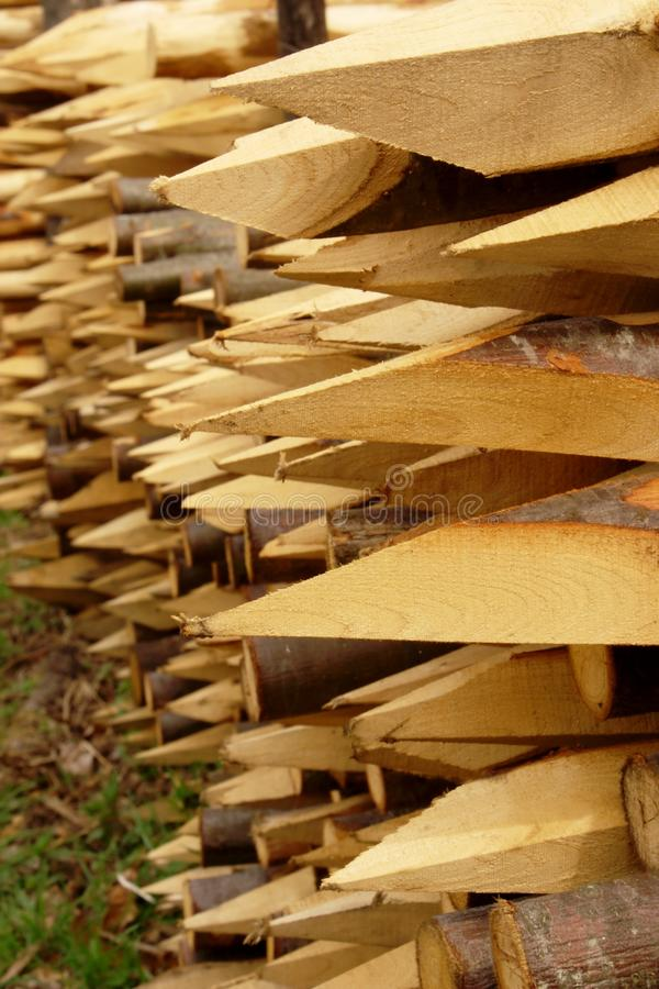 Download Wood Stakes With Sharp Edge Stock Photo - Image: 24378216