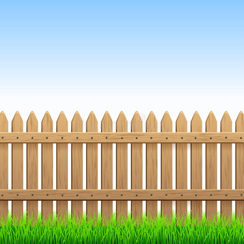 Wood staket stock illustrationer