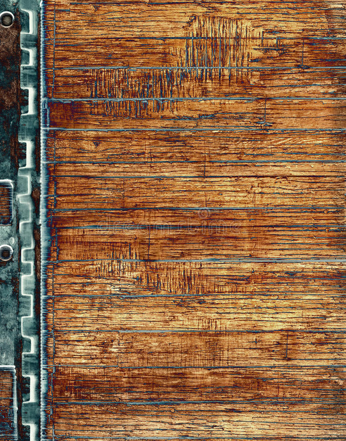 Wood With Steel Structure Royalty Free Stock Image