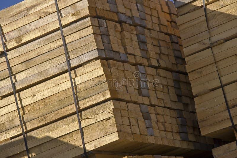Wood stockpile stock image
