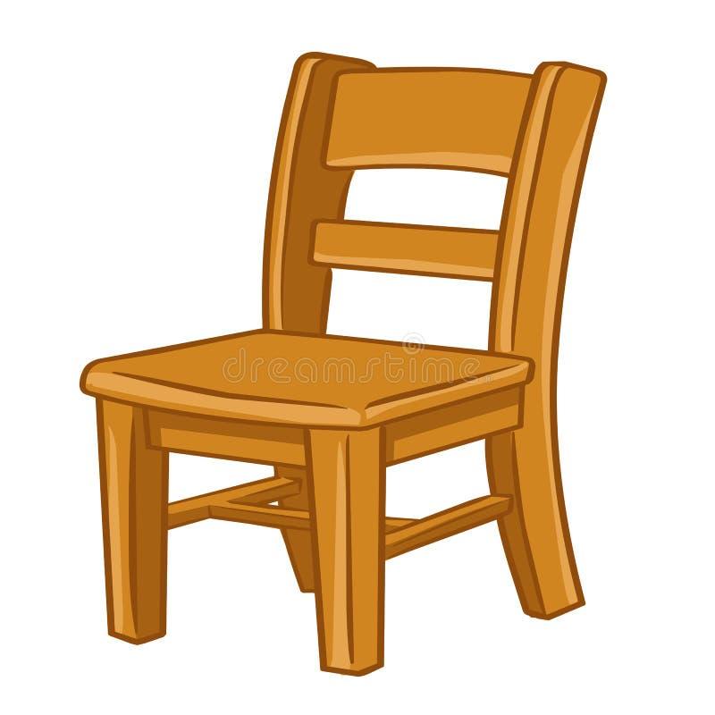 Wood stol isolerad illustration vektor illustrationer