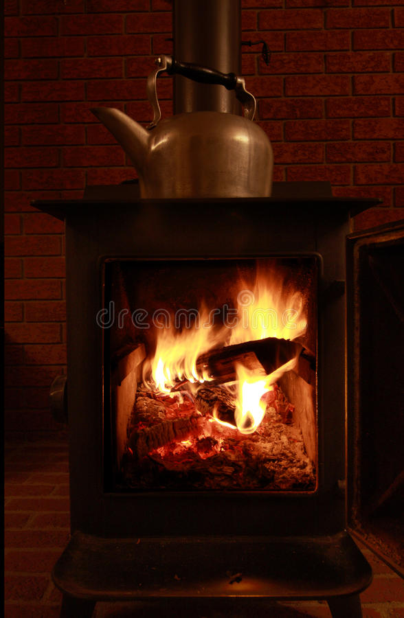 Download Wood Stove And Kettle Stock Images - Image: 12016874