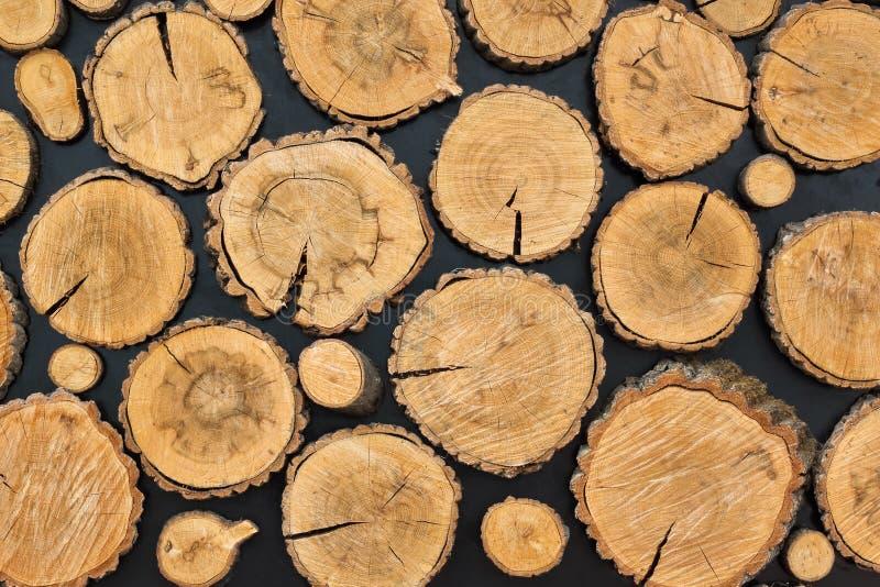 Wood stubbebakgrund royaltyfria foton