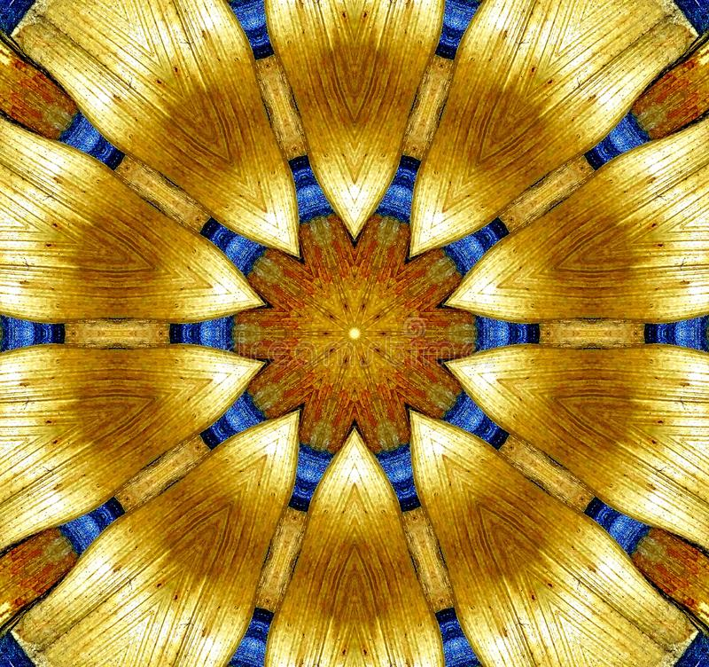 Wood sun. Abstracted drawing representing a light stock photography
