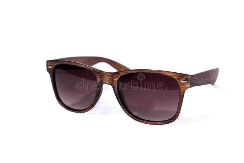 Wood sun glasses royalty free stock photo