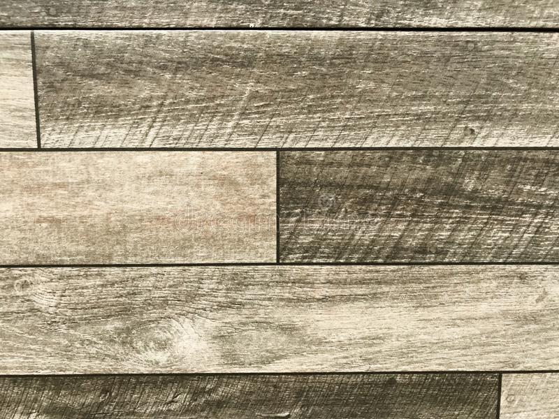 Wood surface. Wood texture on stone concrete flooring. wood texture background used in construction for paving royalty free stock images