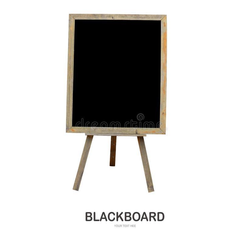 Wood svart tavla som isoleras på vit backround arkivfoto