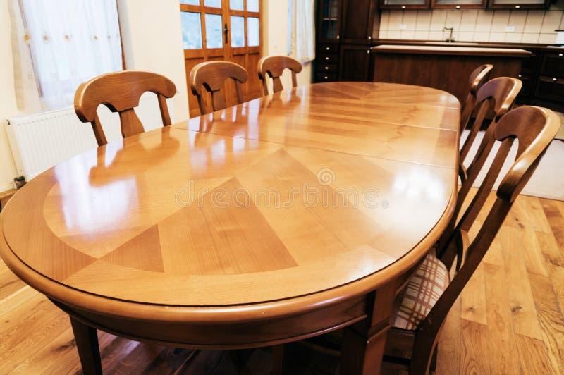 Wood tabell arkivbild