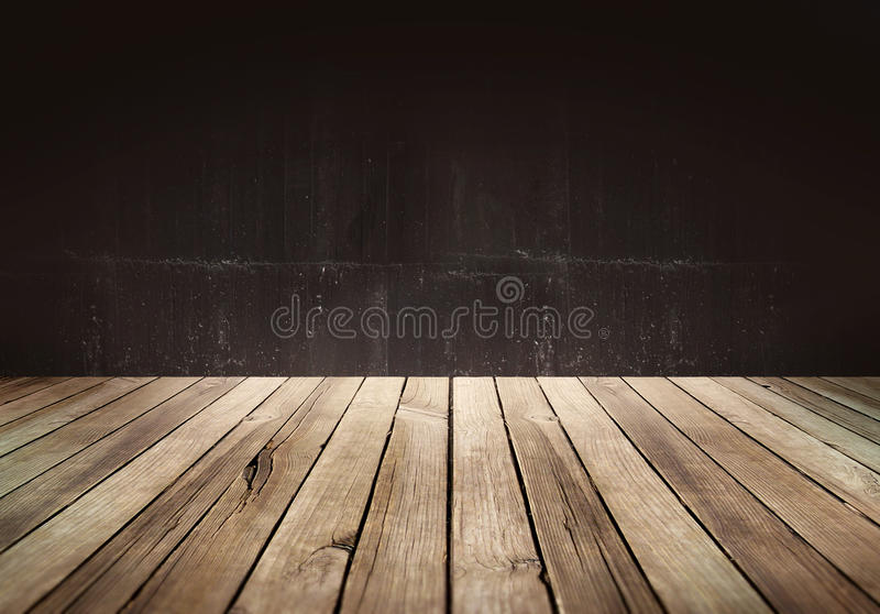 Wood table with Dark background royalty free stock image