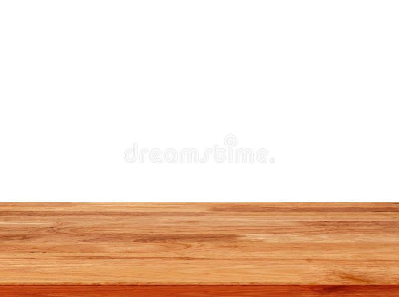 Wood table isolated on white background royalty free stock image