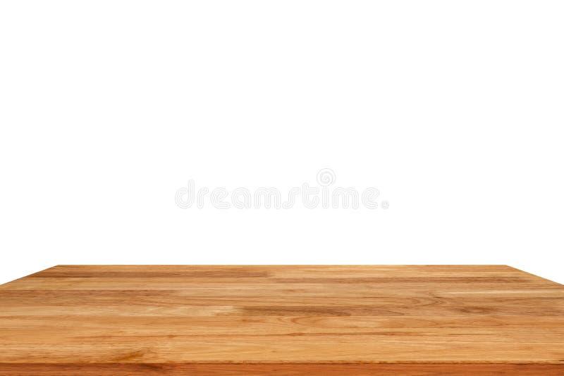 Wood table isolated on white background stock photo