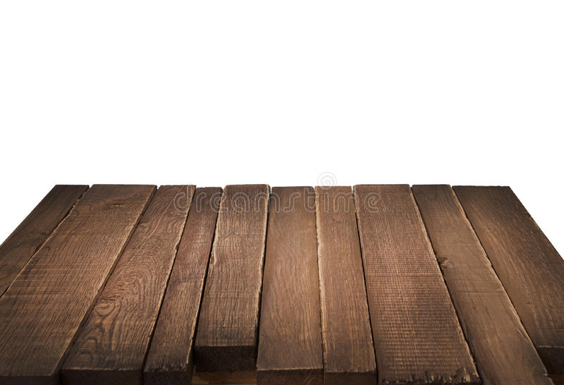 Wood Table In Perspective On White Background Stock Photo Image of