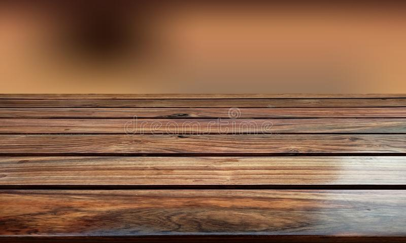 Wood table top with blur background. A rustic wood blur background. can be used for display or. Business, defocused. stock photo
