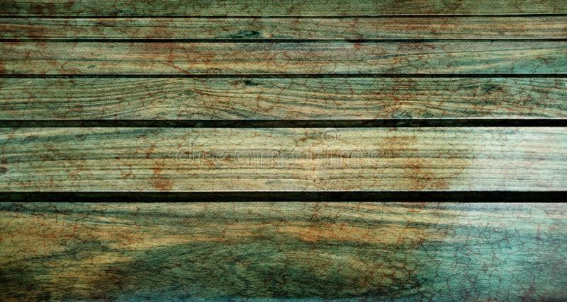 Wood table top with textured background. A green wood textured background. can be used for display or Business, defocused. stock photo