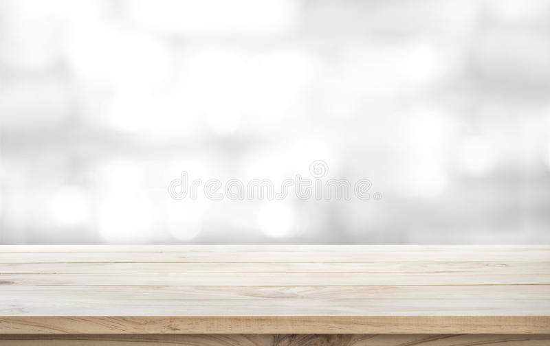 Wood table top on white abstract background. For montage product display or design key visual layout stock images